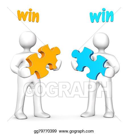 Win-win clipart graphic black and white download Stock Illustration - Win-win business. Clipart Illustrations ... graphic black and white download