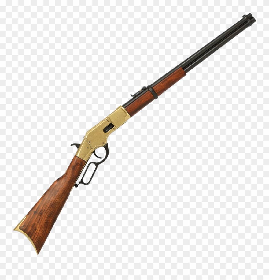 Winchester rifles clipart graphic royalty free 66 Carbine, Designed By Winchester, - Brass Winchester Rifle ... graphic royalty free