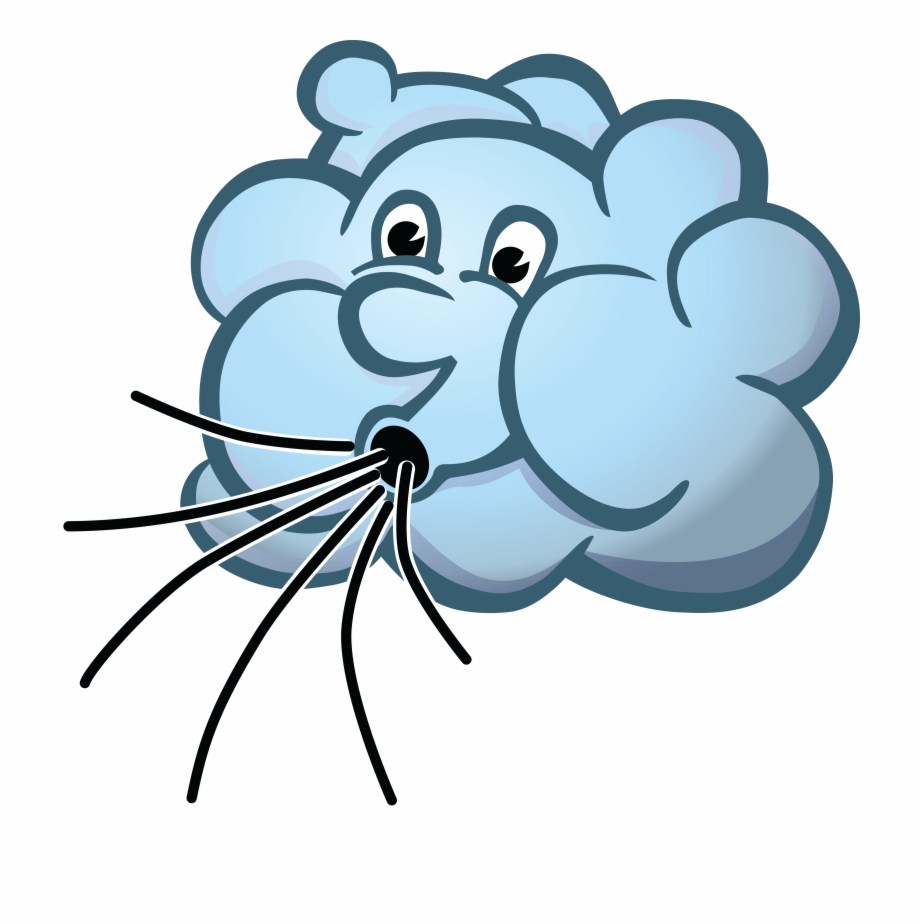 Wind blowing cloud clipart graphic library stock Free Clipart Of A Cloud Blowing Wind - Clipart Of Wind ... graphic library stock