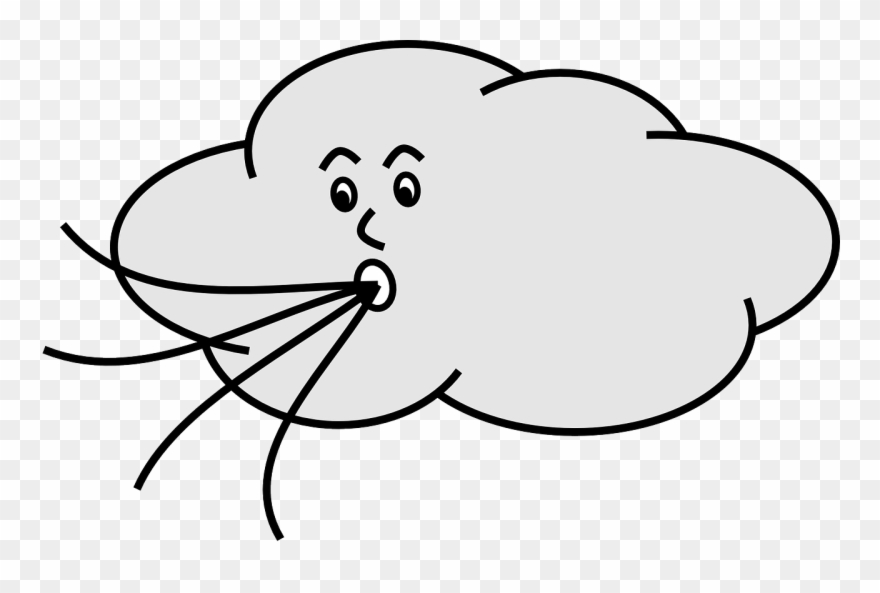 Wind blowing cloud clipart vector black and white download Banner Transparent Stock Wind Blowing Cloud Panda - Cartoon ... vector black and white download
