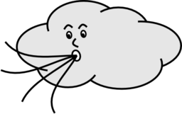 Wind blowing cloud clipart jpg black and white stock Wind Blowing Cloud Clipart | i2Clipart - Royalty Free Public ... jpg black and white stock