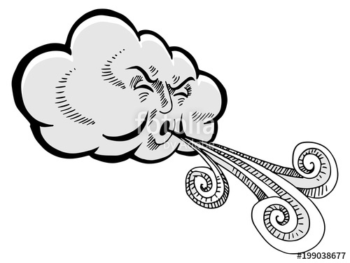 Wind blowing cloud clipart clip art black and white Wind Blowing Drawing | Free download best Wind Blowing ... clip art black and white