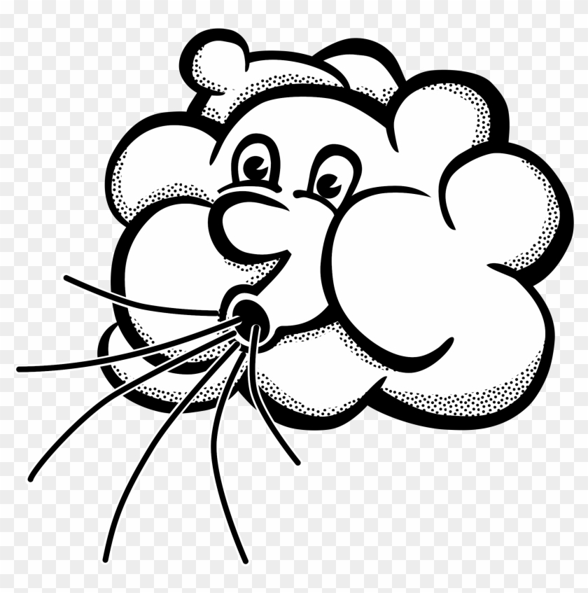 Wind clipart drawing image black and white stock Wind Clipart Lineart Of - Clip Art Wind, HD Png Download ... image black and white stock