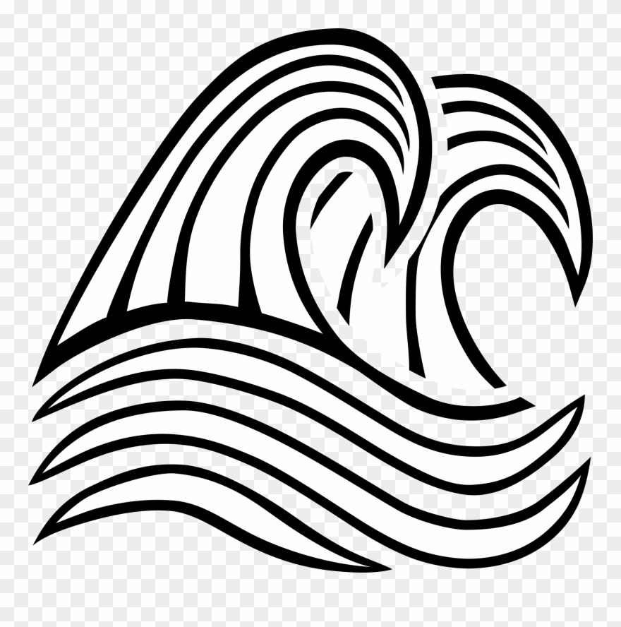 Wind clipart drawing graphic black and white library Line Art Wind Wave Drawing Breaking Wave - Black And White ... graphic black and white library
