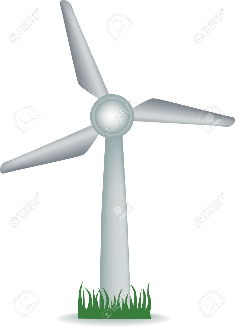 Windmill blades clipart