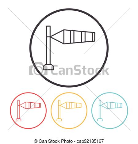 Wind speed clipart free stock Clip Art Vector of Measuring wind speed line icon csp32185167 ... free stock