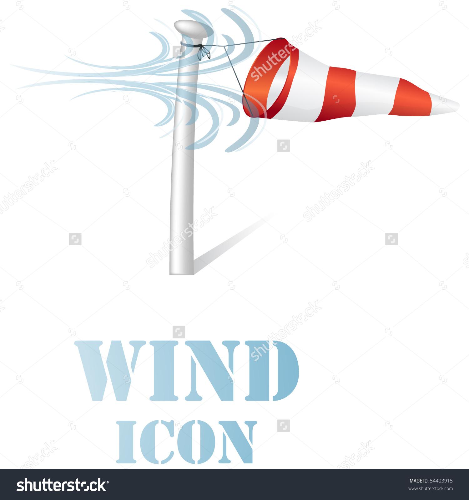 Wind speed clipart jpg stock Wind Speed Flag On Pole Icon Stock Vector 54403915 - Shutterstock jpg stock