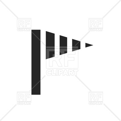 Wind speed clipart svg black and white stock Wind speed flag icon Vector Image #127060 – RFclipart svg black and white stock