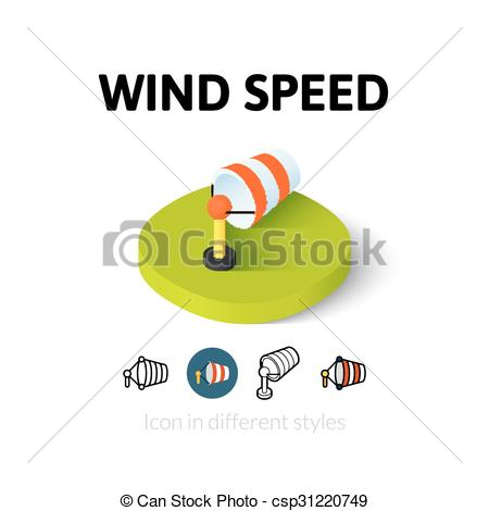 Wind speed clipart clipart royalty free EPS Vector of Wind speed icon in different style - Wind speed icon ... clipart royalty free