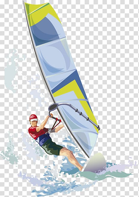 Wind surf clipart