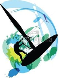 Wind surf clipart picture transparent stock 14 Best Wind Surfing Art images | Surf art, Windsurfing ... picture transparent stock