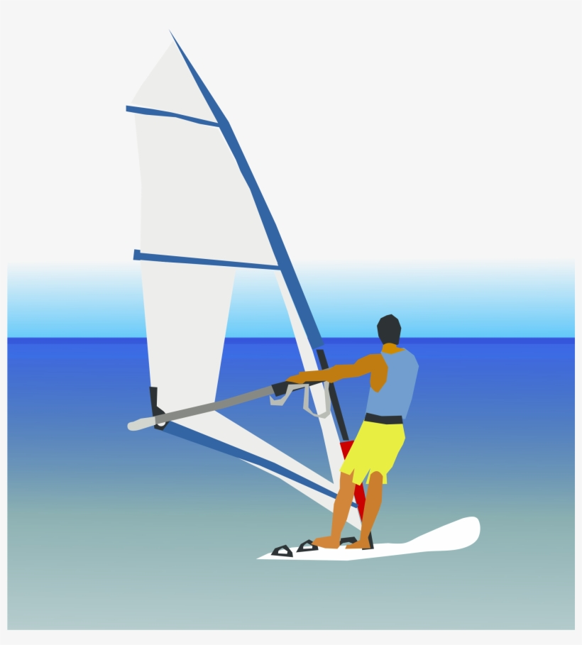 Wind surf clipart clipart royalty free Graphic Transparent Sail Clipart Wind Surfing - Windsurfing ... clipart royalty free
