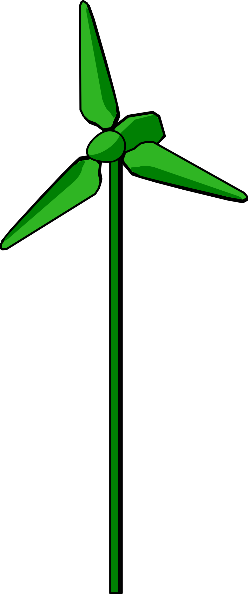 Wind tree clipart banner freeuse download Public Domain Clip Art Image | Wind Turbine Green | ID ... banner freeuse download