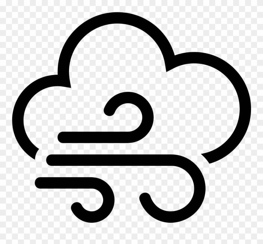 Wind weather clipart png library library Windy Weather Icon - Wind Weather Symbols Clipart (#1405202 ... png library library