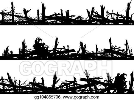 Windbreaks clipart banner freeuse EPS Vector - Set of horizontal silhouette banners with ... banner freeuse