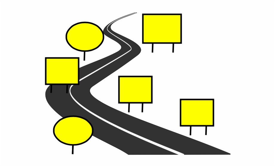 Winding road map clipart banner black and white stock Winding Road Map - Road Map Pictures Clip Art {#696901 ... banner black and white stock