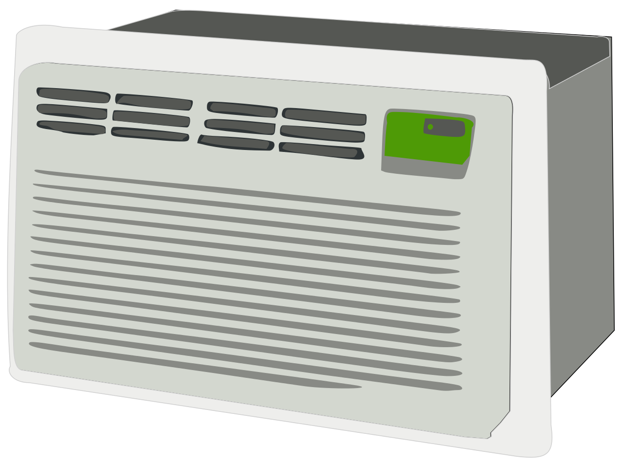 Window air conditioner clipart graphic royalty free library File:Air conditioner.svg - Wikimedia Commons graphic royalty free library