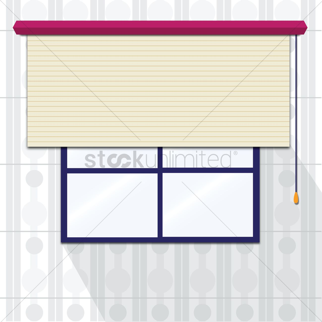 Window blinds clipart vector freeuse download Window with roller blinds Vector Image - 1237123 ... vector freeuse download