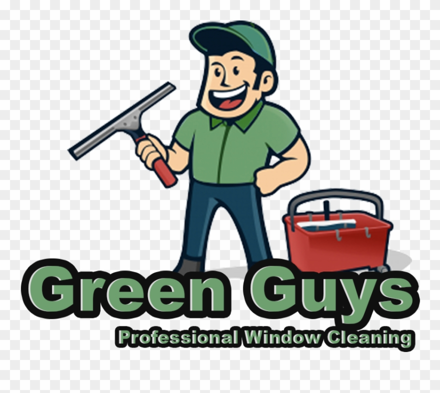Window cleaning clipart images black and white stock Green Guys Cleaning - Window Cleaner Clipart (#503112 ... black and white stock