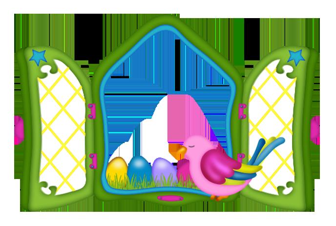 Window clipart gallery clip free Easter Window with Eggs and Chicken PNG Clipart   Gallery ... clip free
