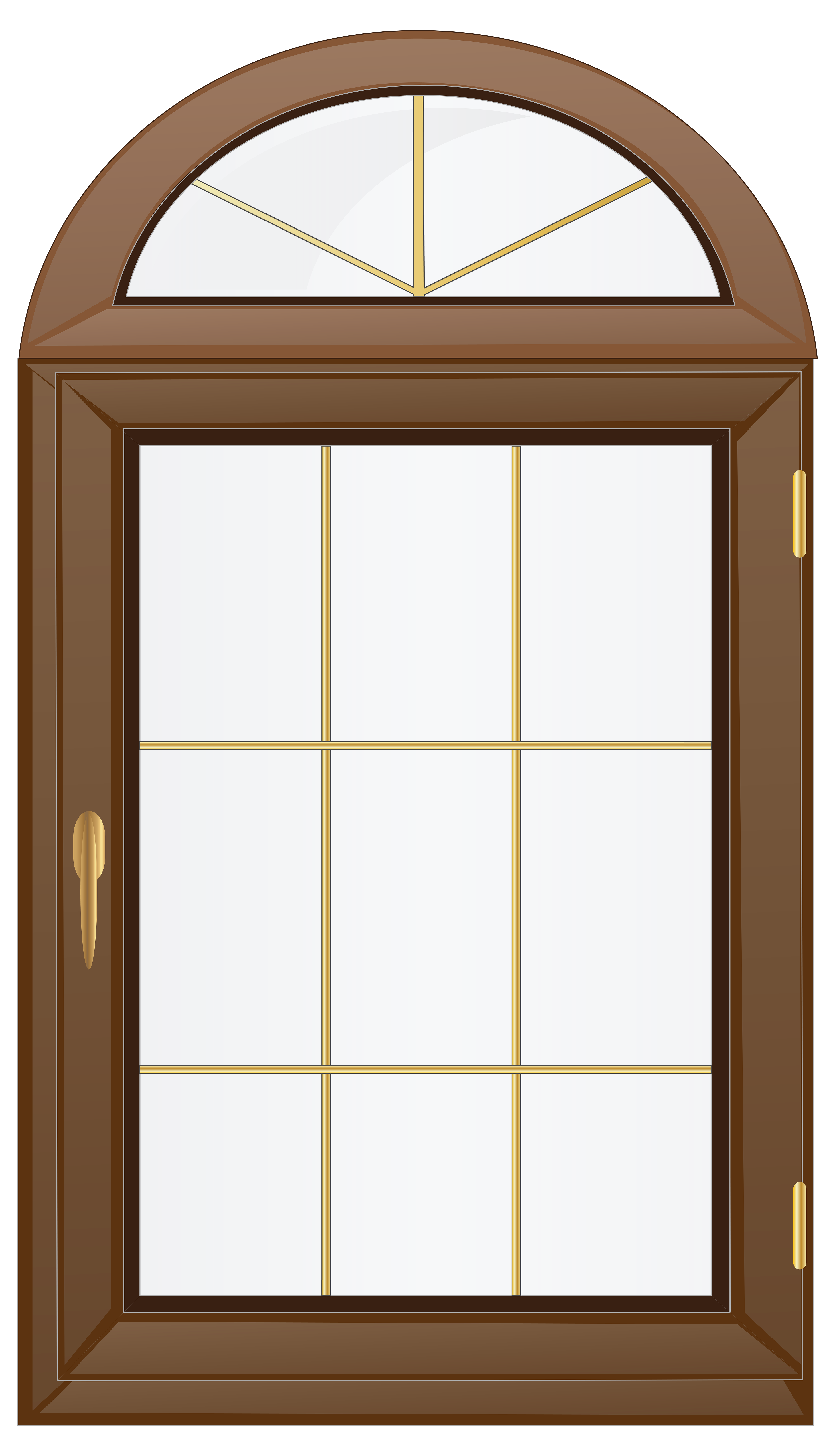 Window clipart transparent image royalty free Transparent Brown Window PNG Clip Art - Best WEB Clipart image royalty free