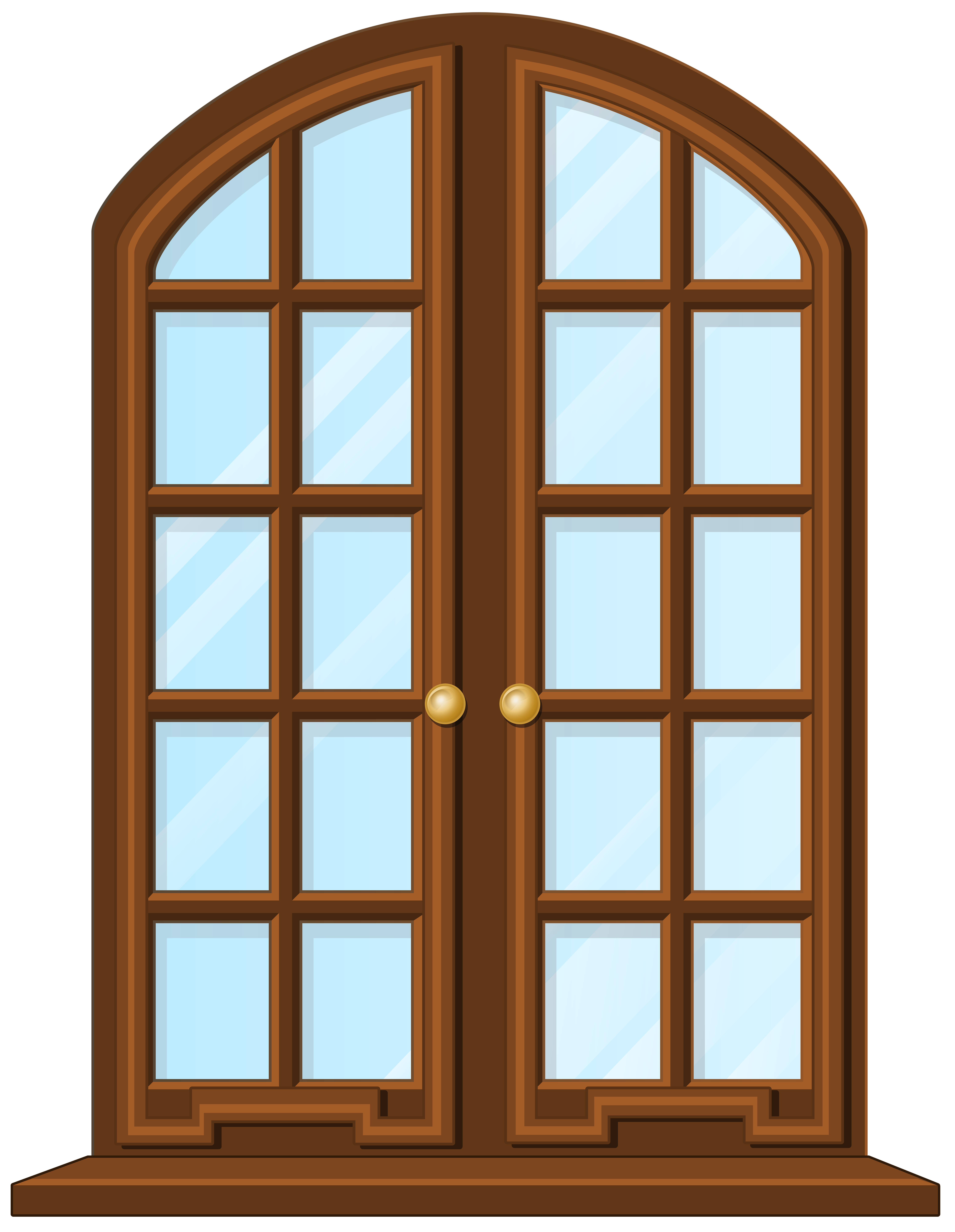 Window png clipart clipart library download Brown Window PNG Clip Art - Best WEB Clipart clipart library download