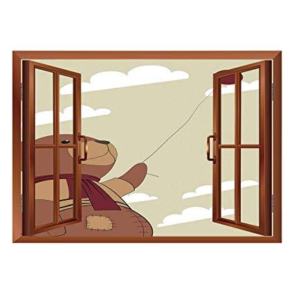 Window view clipart picture free Amazon.com: SCOCICI Creative Window View Home Decor/Wall ... picture free