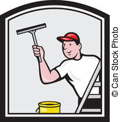 Window washing clipart picture black and white library Window cleaner Clipart and Stock Illustrations. 10,094 Window ... picture black and white library