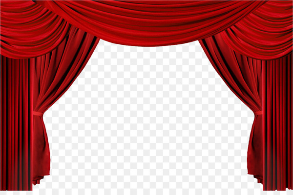 Window with drapes clipart image black and white library Window Theater drapes and stage curtains Clip art - Movie ... image black and white library