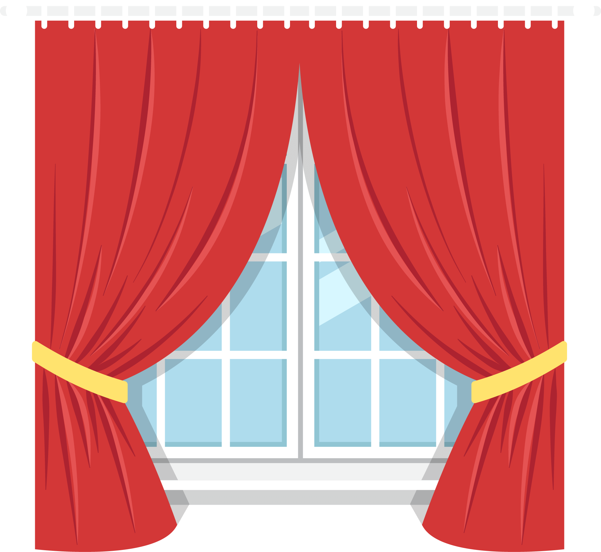 Window with drapes clipart image stock Curtain clipart window shades, Curtain window shades ... image stock