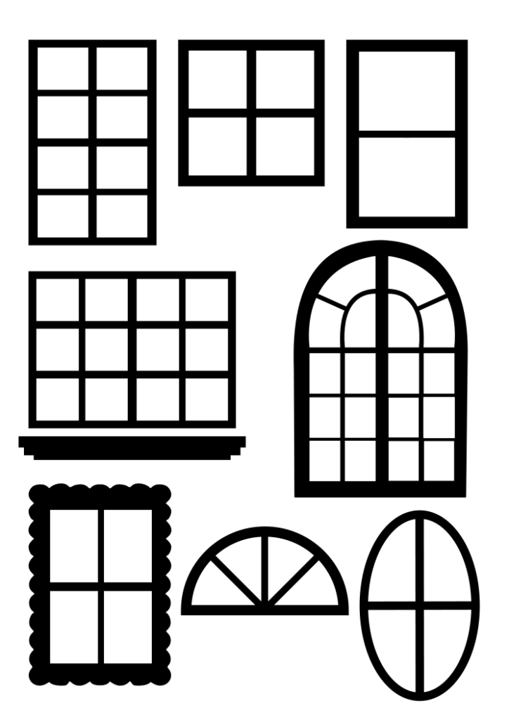 Windowpane clipart banner library stock Window Panes SVG.svg - Box | Unusual | Card templates ... banner library stock