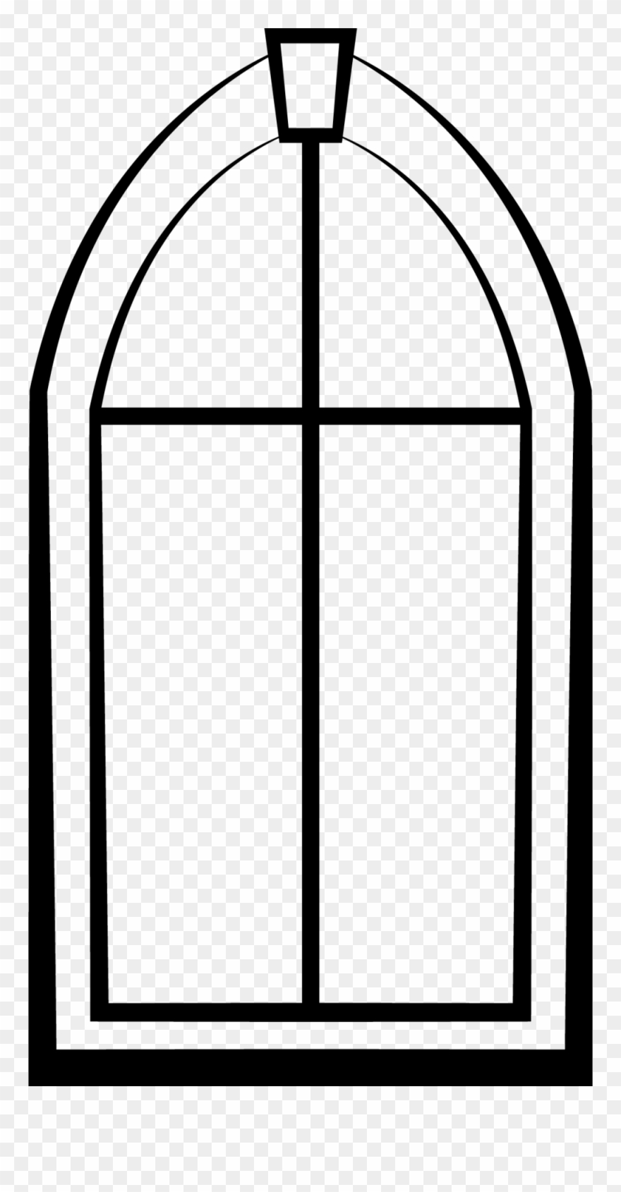 Windowpane clipart black & white