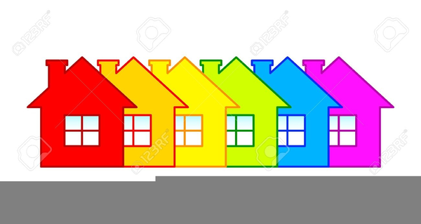 Windows in a row clipart banner transparent stock Free Clipart Row Of Houses | Free Images at Clker.com ... banner transparent stock
