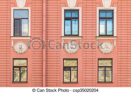 Windows in a row clipart svg black and white library Windows in a row on facade of apartment building svg black and white library