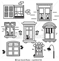 Windows in a row clipart picture download Row clipart house doors - 134 transparent clip arts, images ... picture download
