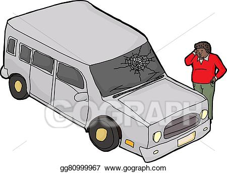 Windshield looking out clipart png transparent stock Vector Stock - Confused man with broken windshield. Clipart ... png transparent stock