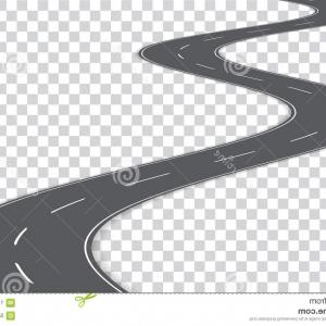 Windy path clipart transparent background image black and white stock Vector Asphalt Highway Road Winding Long Distance White ... image black and white stock