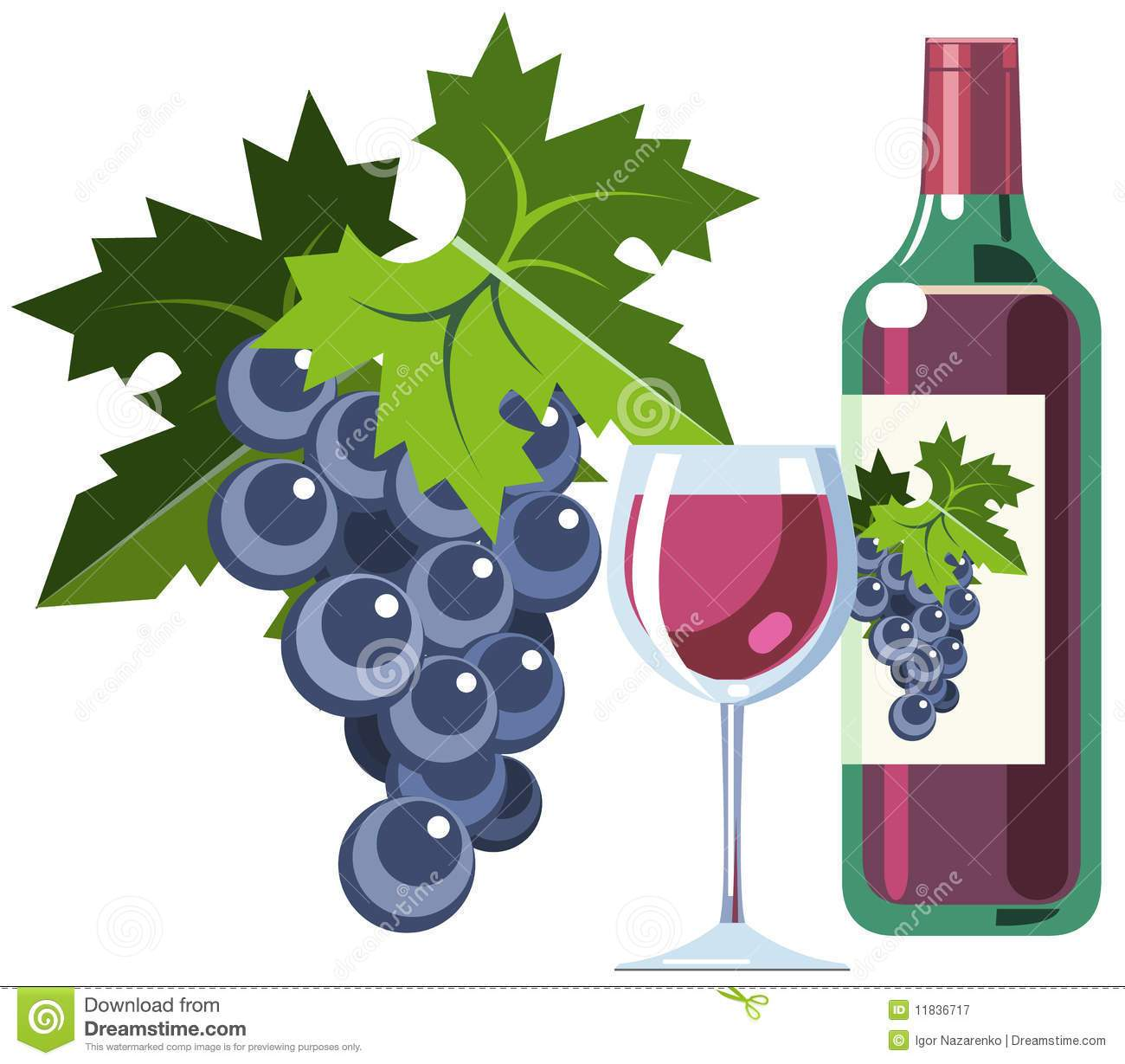 Wine and grapes clipart clipart free stock Wine glass and grapes clipart 7 » Clipart Portal clipart free stock