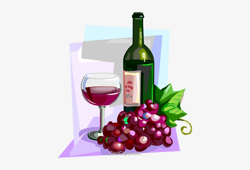 Wine and grapes clipart picture royalty free download Drinking Clipart French Wine - Wine Bottle And Grapes Clip ... picture royalty free download