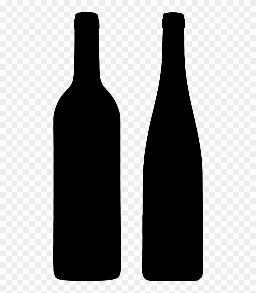 Wine bottle and glass clipart picture black and white download Mixed Wine Club - Glass Bottle Clipart (#4927399) - PinClipart picture black and white download