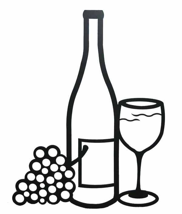 Wine bottle black and white clipart vector freeuse Pin by Kim Hoepker on cake ideas | Wine bottle images ... vector freeuse