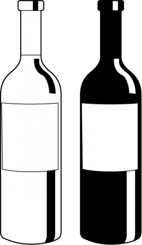 Wine bottle black and white clipart svg black and white download Free Alcohol Bottle Cliparts, Download Free Clip Art, Free ... svg black and white download