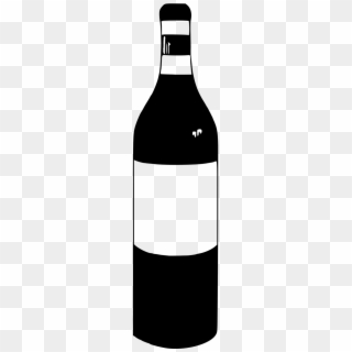 Wine bottle black and white clipart picture library download Wine Bottle Clipart PNG Images, Free Transparent Image ... picture library download