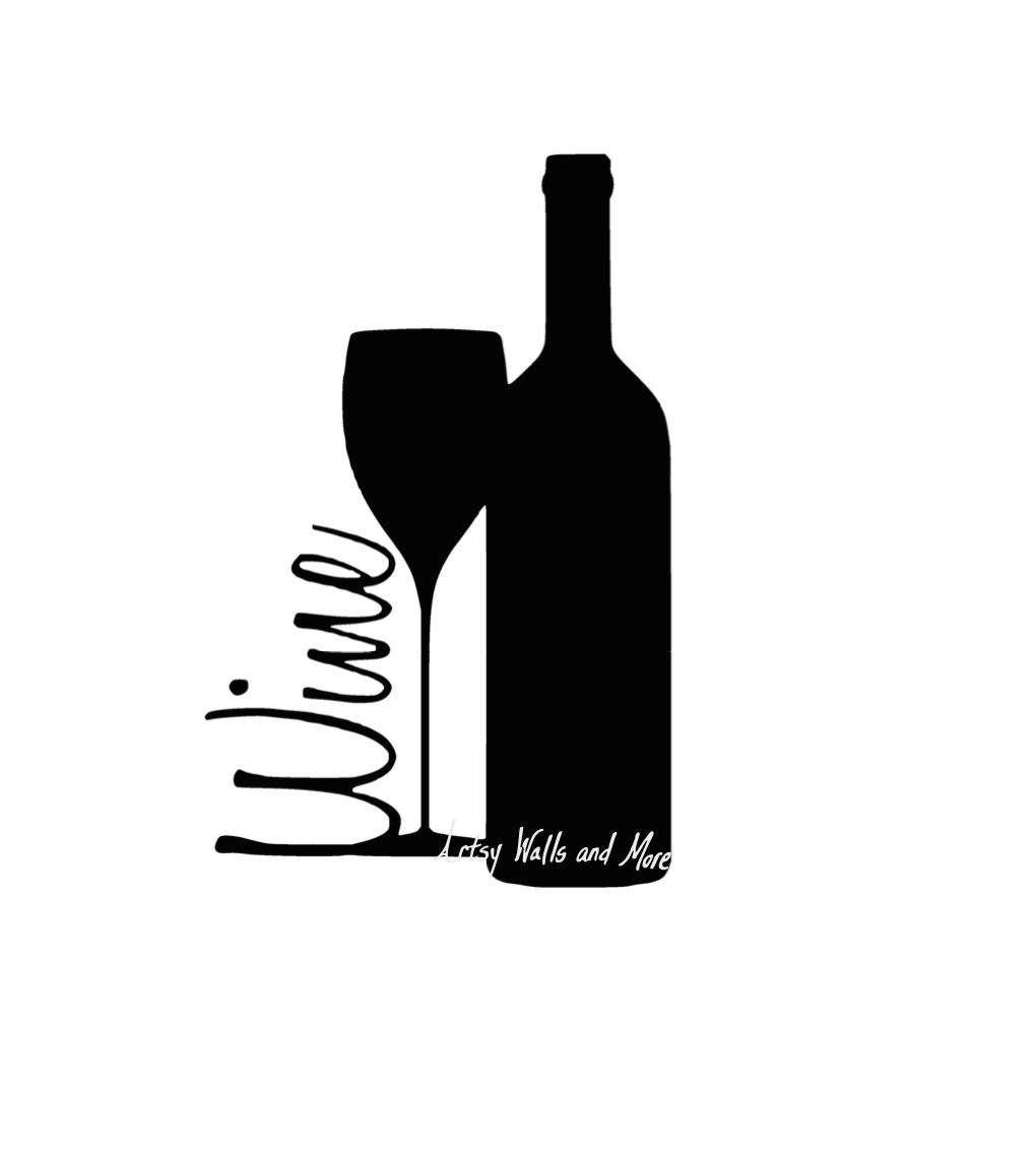 Wine bottle clipart black clip transparent Wine Bottle And Glass Clipart | Free download best Wine ... clip transparent