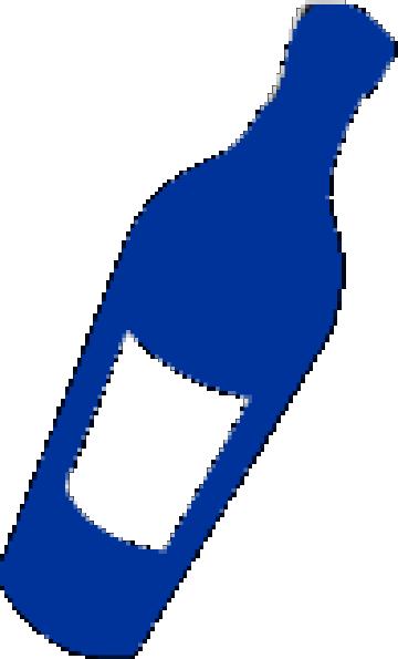 Wine bottle clipart blue