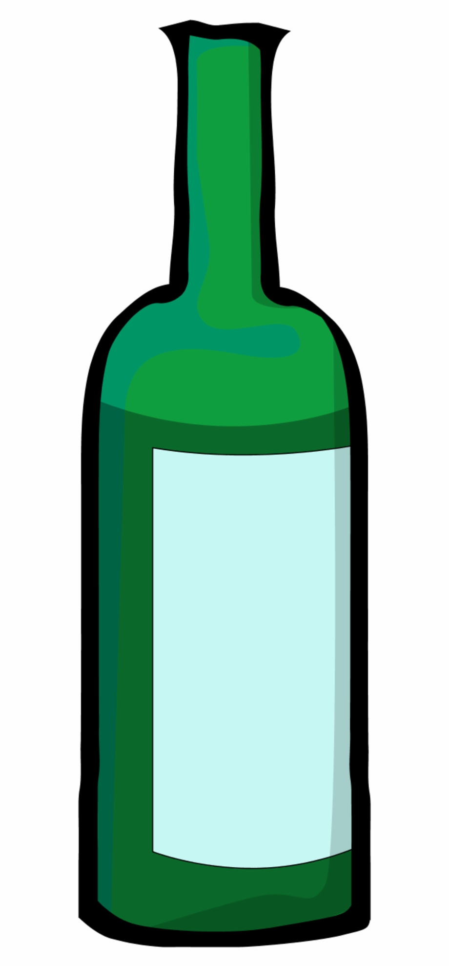 Wine bottle clipart blue svg black and white Bottle Clipart Green Bottle - Wine Bottle Clip Art - wine ... svg black and white