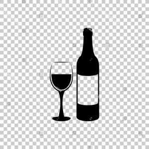Wine bottle and glass clipart clip art royalty free stock Row Of Wine Bottles And Glass Silhouette Vector Clipart ... clip art royalty free stock