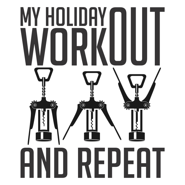 Wine bottle opener workout clipart svg black and white Wine Holiday Workout Cuttable Svg Designs svg black and white