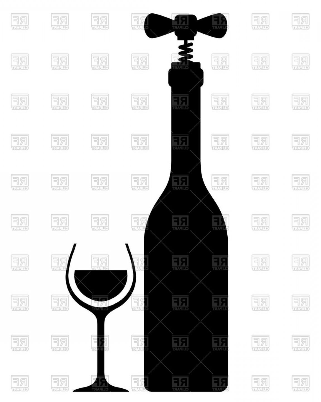 Wine bottle opener workout clipart banner freeuse Wine Bottle Vector Drawings | SOIDERGI banner freeuse