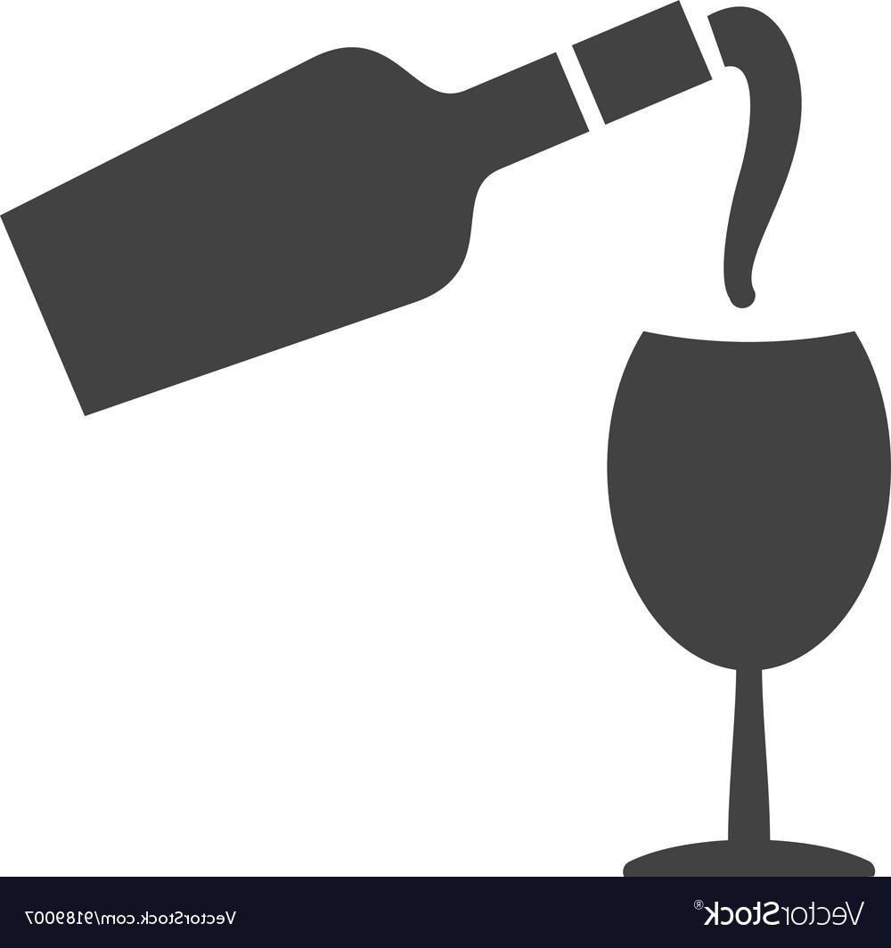 Wine bottle pour clipart svg black and white stock Best Free Wine Pouring Vector Images » Free Vector Art ... svg black and white stock